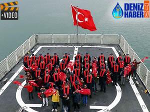 Çocuklar, 'TCSG Dost' ile deniz yolculuğuna çıktı