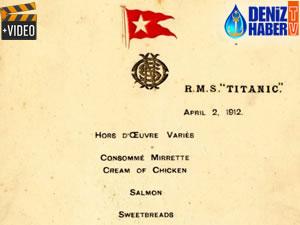 Titanik'in yemek menüsü, açık artırmayla 100 bin Pound'a satıldı
