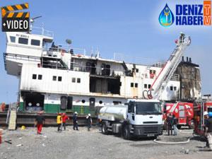 Zonguldak'ta karaya oturan gemideki yangın söndürüldü