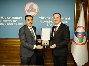 İMEAK Deniz Ticaret Odası Yönetimi, Bülent Tüfenkci'yi ziyaret etti