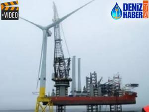 Dünyanın en büyük rüzgar türbini İskoçya'da kuruldu