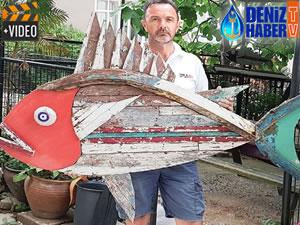 'Denizden Gelen' sergisiyle deniz çöpleri sanata dönüştü