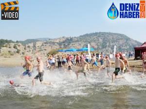 3. Uluslararası Dalyan Açık Su Yüzme Yarışı'nda 528 sporcu mücadele etti
