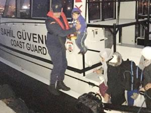 Sahil Güvenlik, Bodrum'da 18 kaçak göçmeni yakaladı