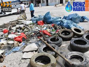 Adana'da denizden çıkan atıkları görenler şaşırdı