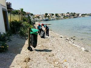 Urla'da sahiller yaz sezonuna hazırlanıyor