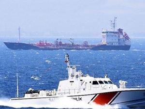 Yunan savaş gemisiyle çatışan Türk gemisi Dikili açıklarında bekletiliyor