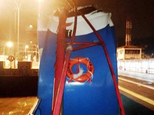 'M/V SANTOS EXPRESS' Santo Limanı'nda üç feribota bindirdi