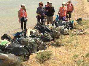 Ayvalık Adaları Tabiat Parkı'ndaki çöpler toplandı