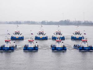 Damen, Amur Gaz İşleme Tesisi için 19 gemi inşa etti