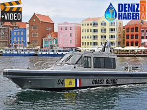 Curacao Adası'na dört karakol botu teslim edildi