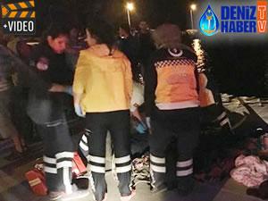 Çanakkale'de göçmenleri taşıyan fiber tekne battı!