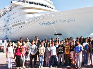 Öğrenciler, M/S Celestyal Olympia'yı ziyaret etti