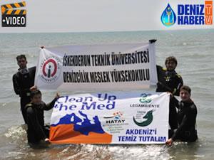 Hatay'da 'Akdeniz'i Temizleyelim' etkinliği yapıldı