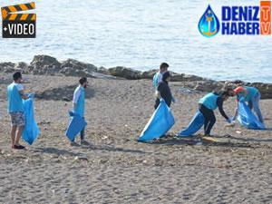 Akçakoca'da sahil temizliği düzenlendi