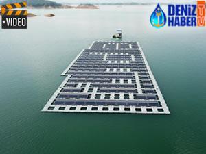 İran ilk yüzer güneş santralini kuruyor