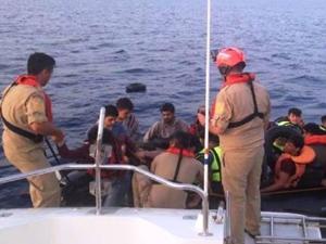 Bodrum açıklarında 20 kaçak göçmen yakalandı
