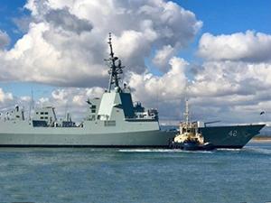 Avustralya, 'HMAS SYDNEY'i Osborne'de suya indirdi