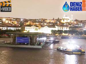 Karaköy'ün yüzer iskelesi yerine getirildi