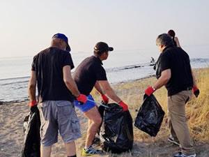 Kocareis'de sahil temizliği yapıldı