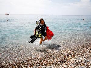 Konyaaltı'nda uluslararası kıyı temizliği yapıldı
