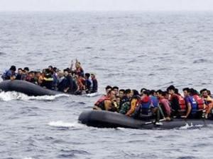 Libya açıklarında 158 kaçak göçmen kurtarıldı