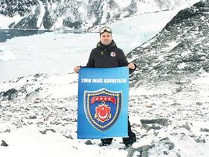 Antarktika'da Türk Silahlı Kuvvetleri'ni temsil eden ilk kişi oldu