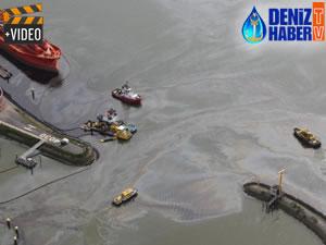 'M/T BOW JUBAIL' Rotterdam Limanı'nda iskeleye çarptı