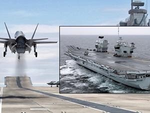 HMS Queen Elizabeth'e ilk F-35B sonbaharda inecek