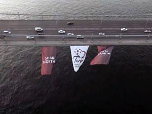 Boğaz Köprüsü, EURO 2024 bayrakları ile donatıldı