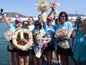 Kadın yelkenciler barış seyrini tamamladı