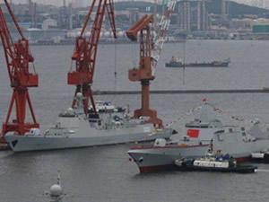 Çin, güdümlü füze destroyerlerini suya indirdi