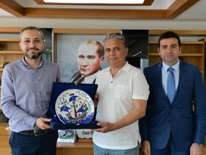 Ahmet Ünver, Ümit Uysal'ı ziyaret etti