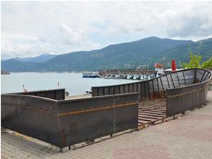 Gerze İskele Mevkisi'ne dev gemi maketi yapılıyor