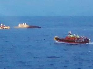 Güney Kore'de balıkçı teknesi alabora oldu!
