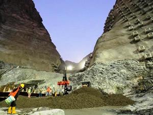Yusufeli Barajı'nda gövde betonuna başlandı