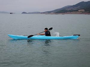 Tokat'ta deniz kanosu yarışması düzenleniyor