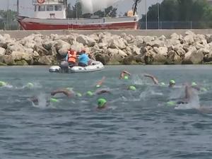 Büyükçekmece Körfez Açık Su Yüzme Şampiyonası yapıldı