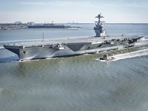 USS GERALD R. FORD deneme seferlerini tamamlandı