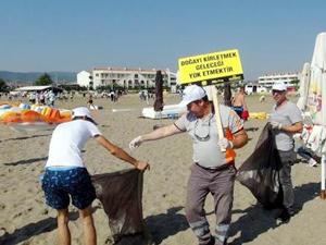 Asyaport personeli, Tekirdağ'da temizlik çalışması yaptı