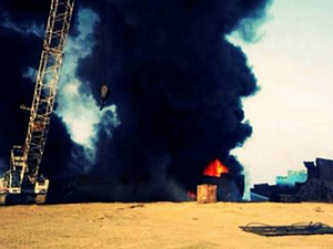 Hurdaya çıkarılan M/T DS VADA 'da yangın çıktı!