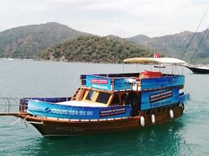 'Deniz market' Göcek'te teknelere hizmet veriyor