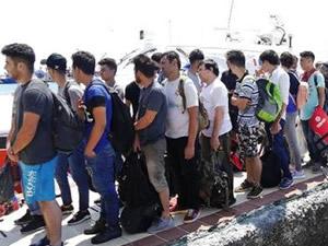 Midilli'ye kaçmaya çalışan 42 göçmen yakalandı