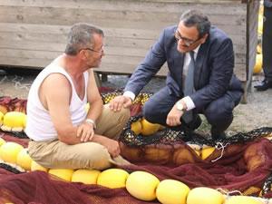 Harun Sarıfakıoğulları, balıkçı barınağında incelemelerde bulundu