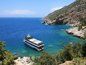 Korsanların saklandığı koy, turistlerin uğrak yeri oldu