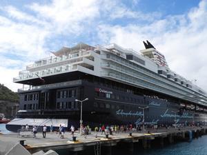 İki kruvaziyer gemisi Bodrum'a 2 bin 341 turist getirdi