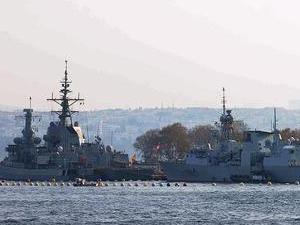 NATO görevindeki gemiler Samsun Limanı'na demir attı