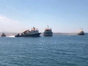 El konulan üç Türk gemisi Cezayir'den döndü