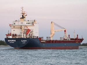 M/V SOURIA, Hereke Limanı'na demirledi