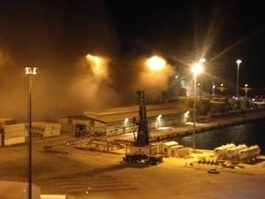 Bandırma Çelebi Limanı'nda yangın çıktı